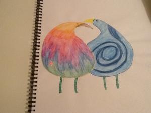 Visual diary love birds