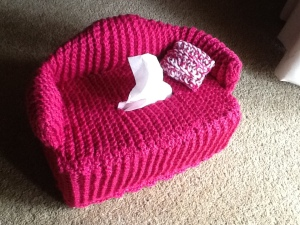 Couch tissue box cover